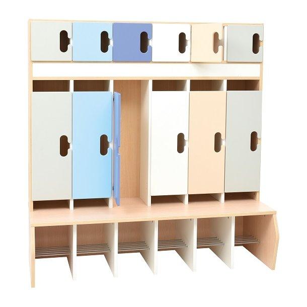 Bibshop Garderobe Kamæleon med 6 døre, Vælg farve