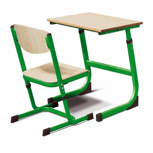 Skolebord til 1 person Grøn