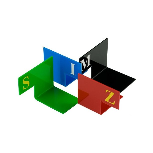 Alfabetsæt med bogstav, m/'fod', firkantet